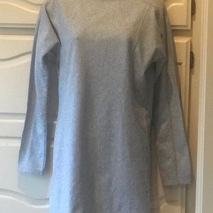 ATHLETA Women's XS Heather Grey Sweatshirt DRESS